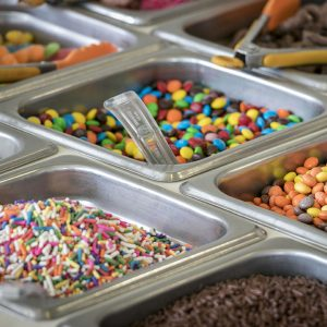 comfy cow ice cream toppings